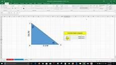 calculate angle degree of triangle in excel