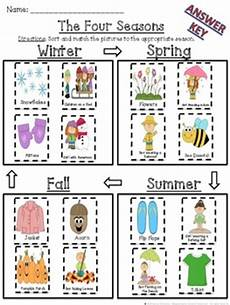 the four seasons cut and paste sorting and matching