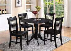 dlno5 blk w 5 pieces small kitchen table set round kitchen table and 4 chairs ebay
