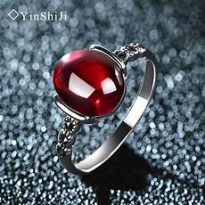4 color wedding rings vintage red silver 925 rings for