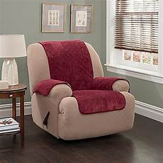 plush stripe recliner and wingback chair cover bed bath beyond