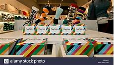 Happy Shop - happy socks on sale in clothing store stock photo
