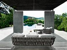 outdoor furniture with creative braided upholstery