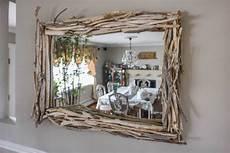 driftwood layered mirror rustic industrial modern reclaimed barnwood driftwood