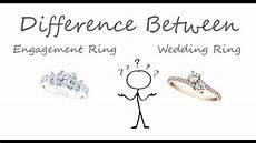 engagement ring vs wedding ring youtube