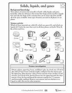 solids liquids and gases worksheets activities greatschools science worksheets matter