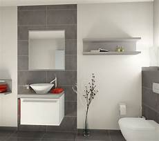 Graue Fliesen Neues Haus Badezimmer