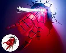 3d marvel spiderman hand wall light red ebay