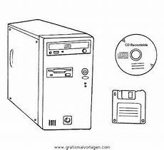 Malvorlagen Pc Computer Pc 01 Gratis Malvorlage In Computer Diverse