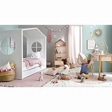 Lit Cabane Enfant 90x190 Blanc Bucolique Maisons Du Monde