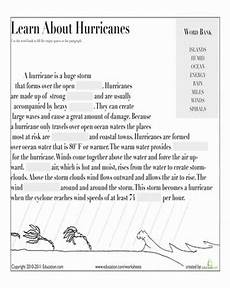 hurricane worksheets for elementary learn about hurricanes worksheet education com