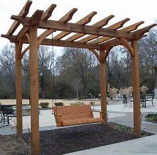 pergola swing 1000 images about porch swing on pergolas