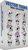 Skull Collection  Stock Cartoon Graphics Vector Toons
