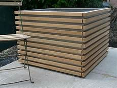 jardiniere haute bois dominox org jardiniere bac couvre murs bassin acier