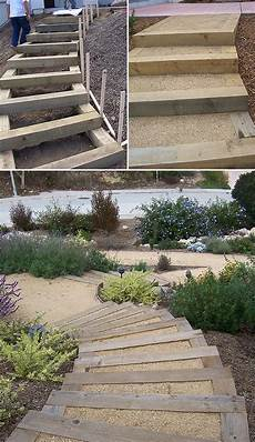 step by step diy garden steps outdoor stairs the