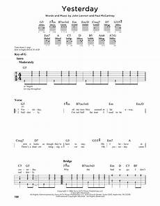yesterday by the beatles guitar lead sheet guitar instructor