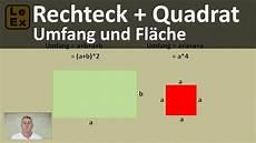 rechteck und quadrat umfang und fl 228 che erkl 228 rung