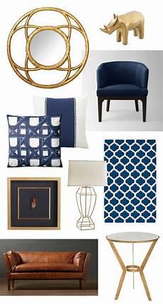 Navy Blue Home Decor Ideas by Navy And Gold Home Decor Gilt Interiors