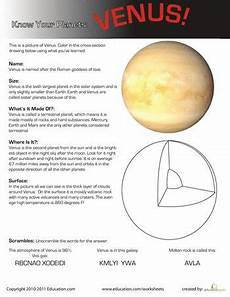 venus planet worksheet your planets venus special education other and mars