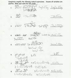 simplifying radical expressions worksheet helping times
