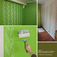 Exles For Wall Design With Patterned Paint Rollers In
