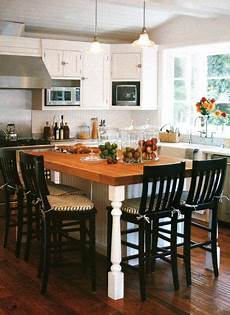 Kitchen Island Table With Chairs by Kitchen Island Made As Table Also Seats 3 On One Side