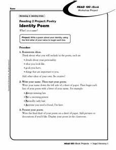poetry analysis worksheet 8th grade 25524 reading project 2 poetry identity poem worksheet for 6th 8th grade lesson planet