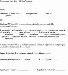 Mod 232 Le De Lettre De Promesse De Vente D Une Voiture D
