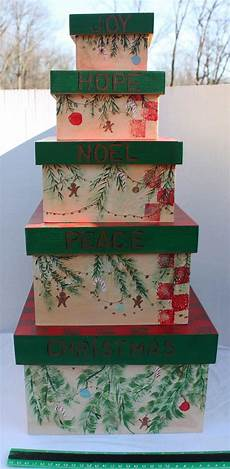 decorative nesting boxes stacking nesting wood boxes keeper set of by