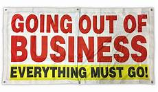 Going Out Of Business Banner Sign Vinyl Alternative 2x4 Ft