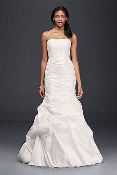 taffeta mermaid wedding dress with skirt pickups style op1289 op1289 279 99