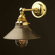 new brass straight arm wall sconce shade