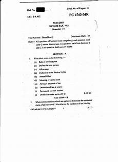 income tax question paper 2015 punjabi uni