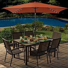11 foot rectangular aluminum solar patio umbrella bed bath beyond