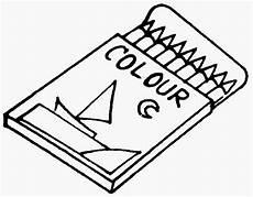 Dunia Sekolah Gambar Hitam Putih Drawing Alat Tulis