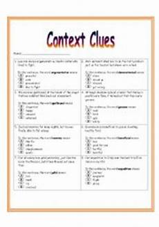 english worksheets context clues worksheet 3