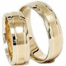 gold matching his hers two tone wedding ring band
