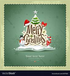 merry christmas vintage design royalty free vector image