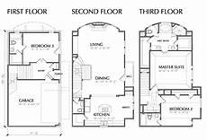 3 story floor plans story house plans multi unit townhouse floor plan house