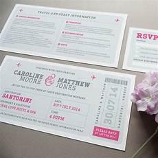 Wedding Invitation Boarding Pass airline boarding pass wedding invitation by project pretty
