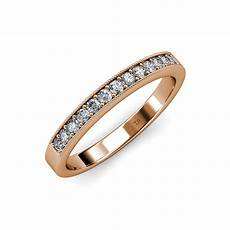 diamond 13 stone wedding band with milgrain work 0 39 ct tw 14k gold jp 104841 ebay