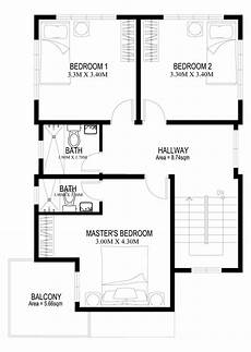 a two storey house plan thoughtskoto