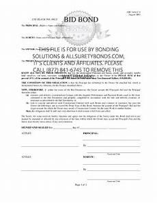 bid bond 9 printable a305 contractor s qualification statement form