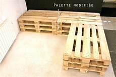 canapé angle palette canape en palette avec dossier ensemble salon en palette 9