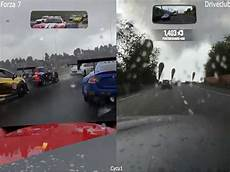 forza 7 vs driveclub xbox one x vs ps4 4k effect