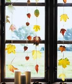 Fensterdeko Herbst Basteln - dekorieren mit herbstlaub ideen zum selbermachen