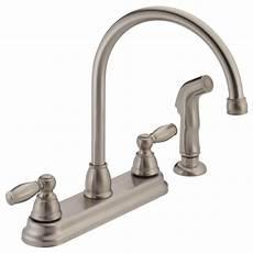 peerless kitchen faucet parts p299575lf ss two handle kitchen faucet