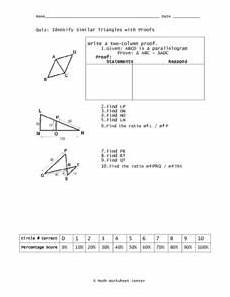 identify similar triangles with proofs worksheet for 10th 12th grade lesson planet