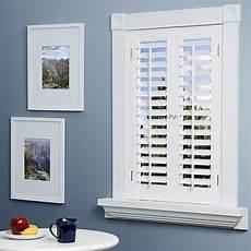 Fenster Rolladen Innen - faux wood plantation shutter