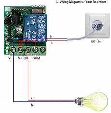 generic smart home 433mhz dc 12v 1ch wireless remote switch relay receiver transmitter universal